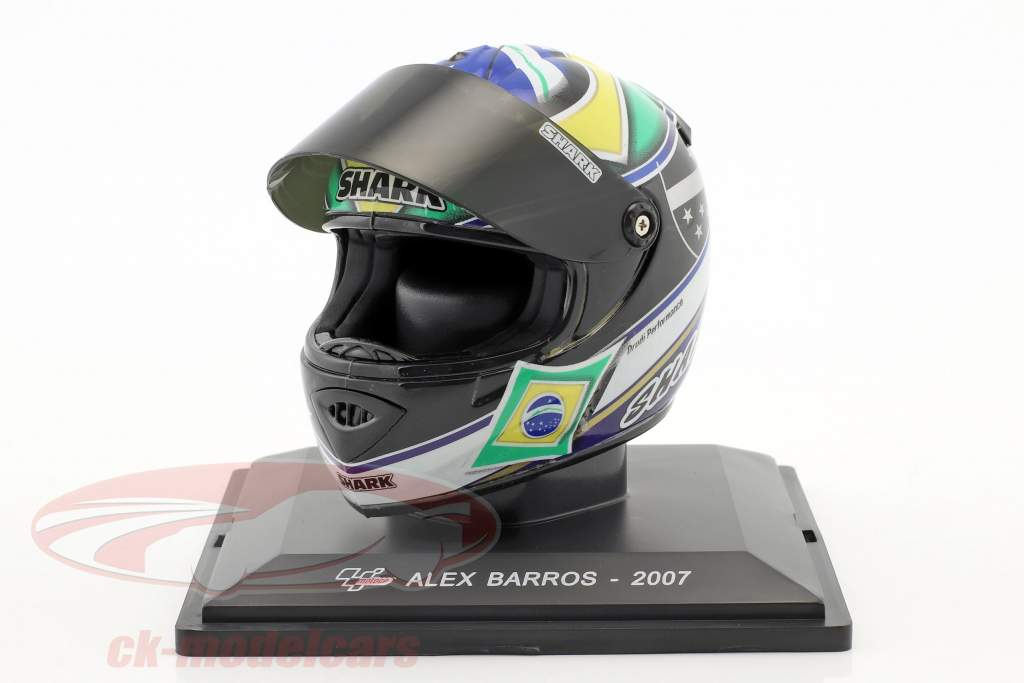Alex Barros MotoGP 2007 Last Race casque 1:5 Altaya