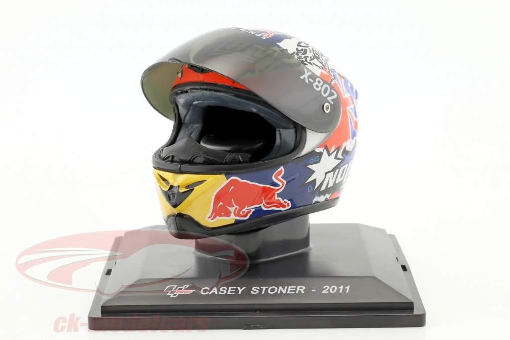 Casey Stoner champion du monde MotoGP 2011 casque 1:5 Altaya