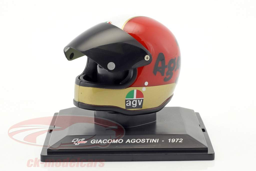 Giacomo Agostini champion du monde 500cm³ 1972 casque 1:5 Altaya