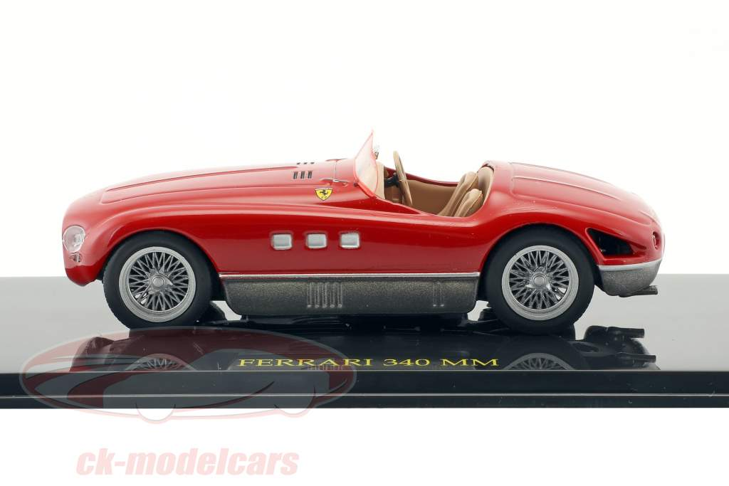 Ferrari 340 MM red with showcase 1:43 Altaya
