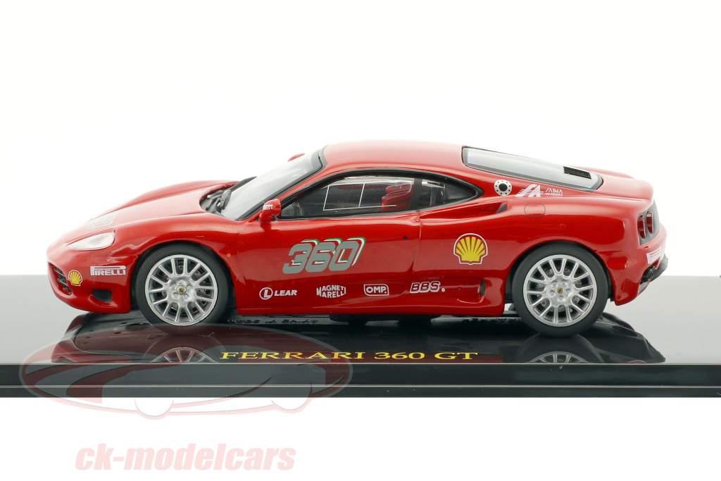 Ferrari 360 GT rot mit Vitrine 1:43 Altaya