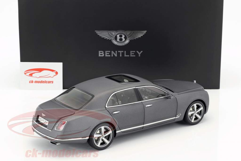 Bentley Mulsanne Speed gris foncé satin 1:18 Kyosho