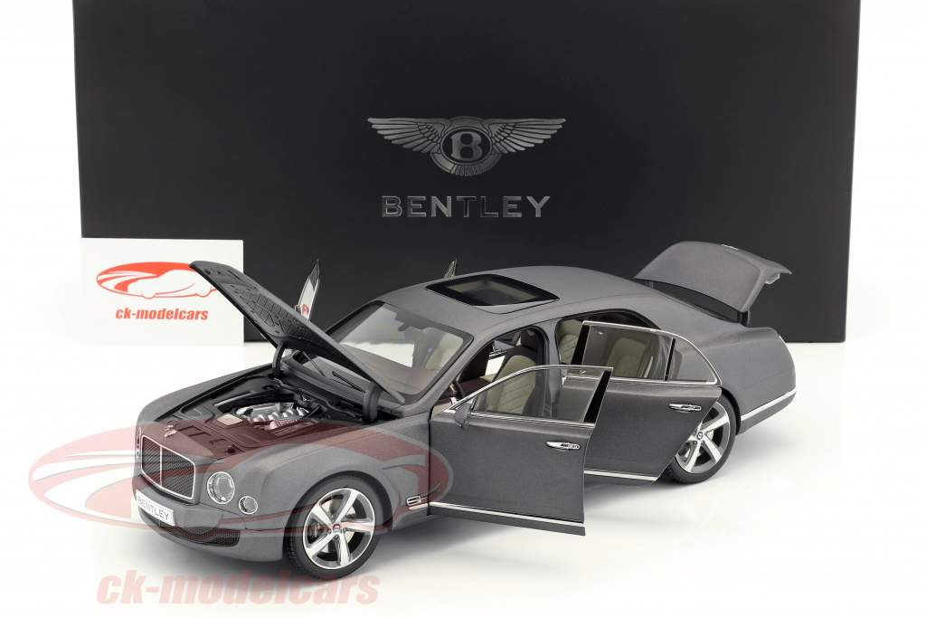 Bentley Mulsanne Speed grigio scuro raso 1:18 Kyosho