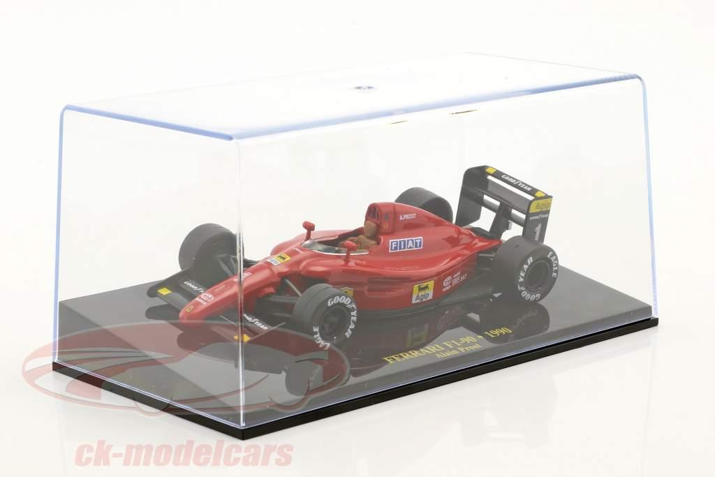 Alain Prost Ferrari F1-90 #1 Formel 1 1990 mit Vitrine 1:43 Altaya