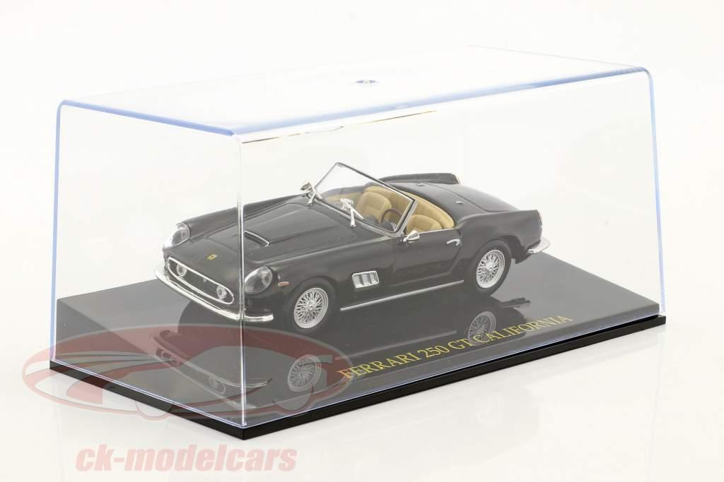 Ferrari 250 GT California noir avec vitrine 1:43 Altaya