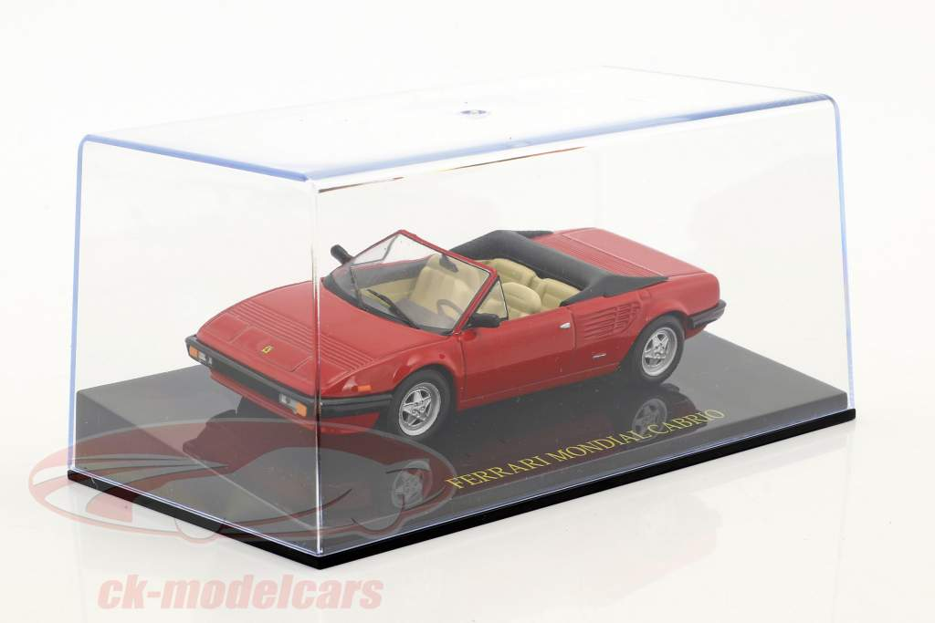 Ferrari Mondial Cabriolet rød med udstillingsvindue 1:43 Altaya