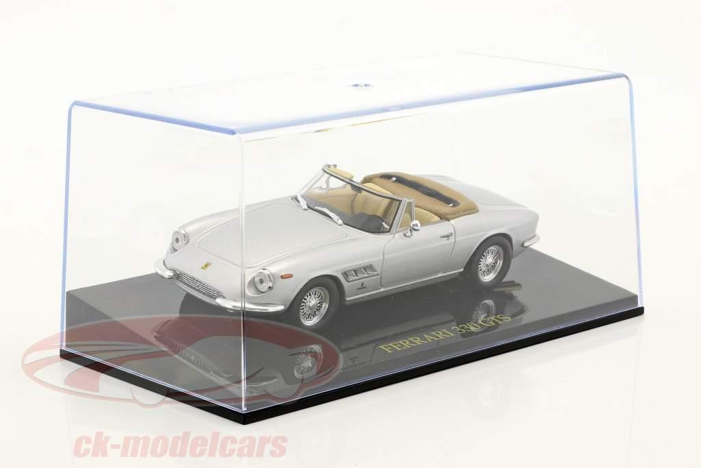 Ferrari 330 GTS silver with showcase 1:43 Altaya