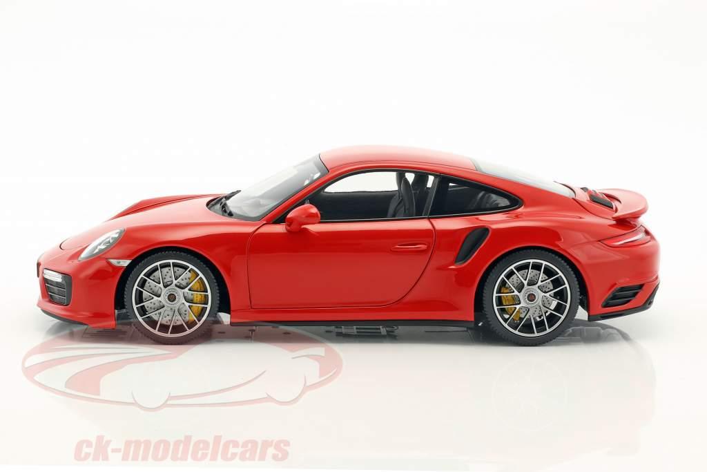 Porsche 911 (991) Turbo S Baujahr 2016 indisch rot 1:18 Minichamps