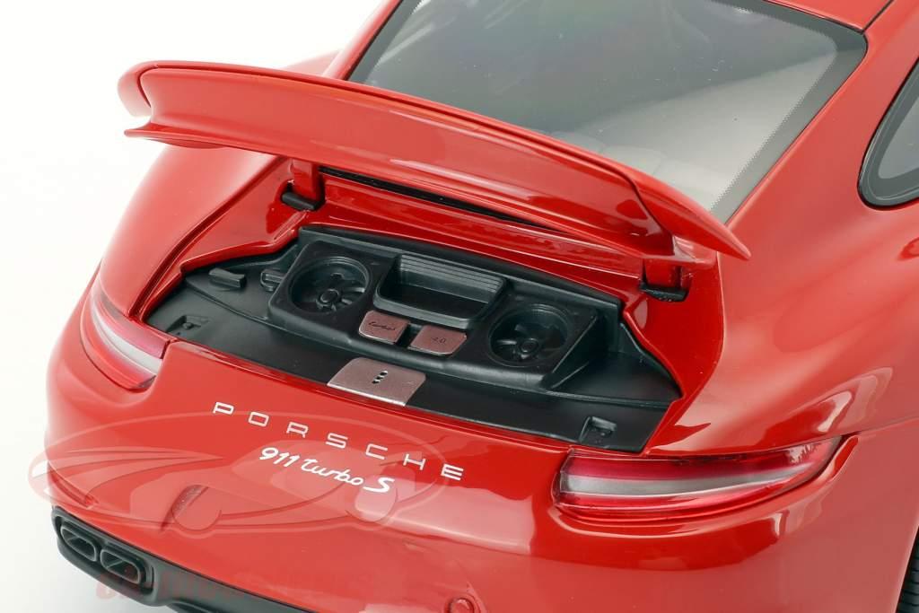 Porsche 911 (991) Turbo S year 2016 red 1:18 Minichamps