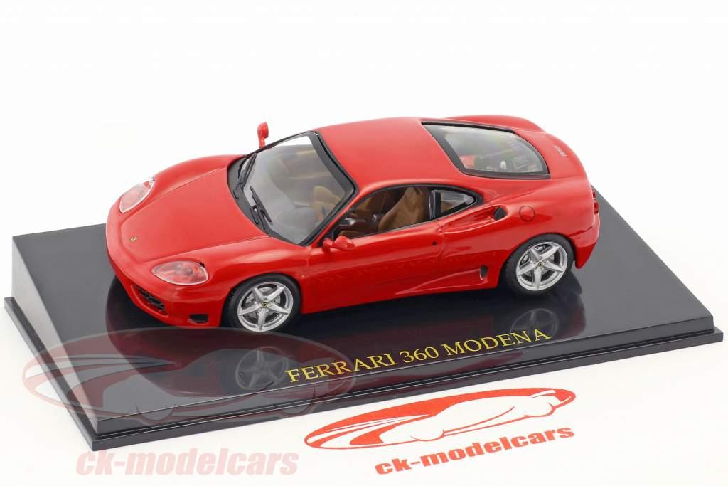 Ferrari 360 Modena rood met vitrine 1:43 Altaya