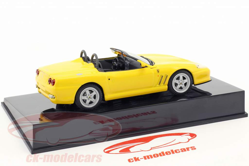 Ferrari 550 Barchetta gul med udstillingsvindue 1:43 Altaya