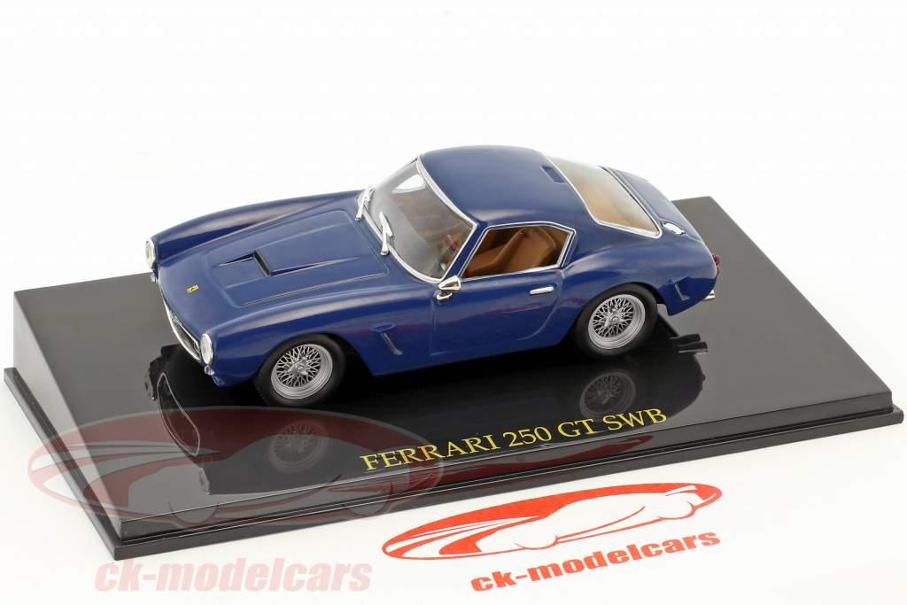 Ferrari 250 GT SWB blue with showcase 1:43 Altaya