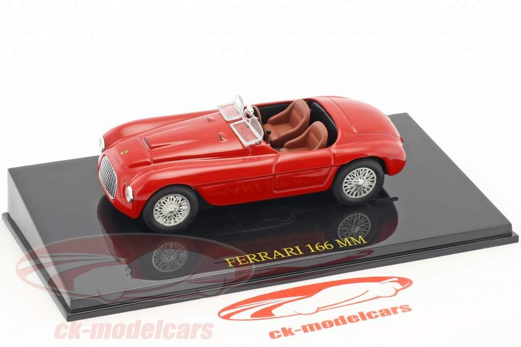 Ferrari 166 MM rosso con vetrina 1:43 Altaya