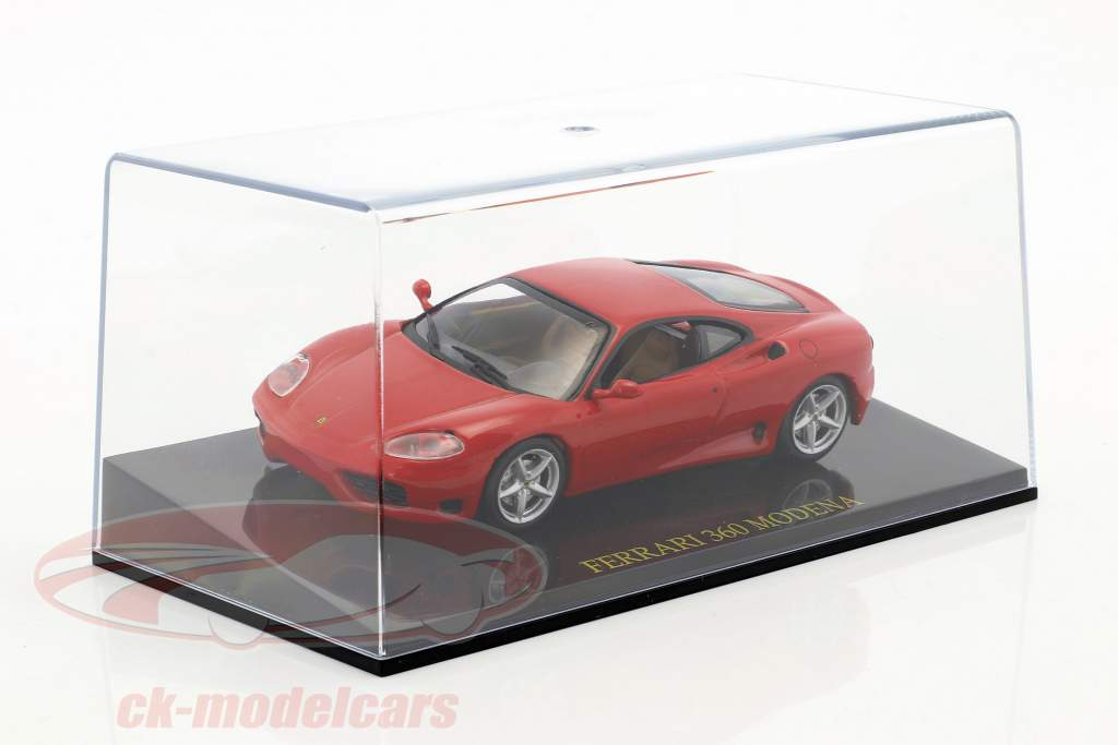 Ferrari 360 Modena rojo con escaparate 1:43 Altaya