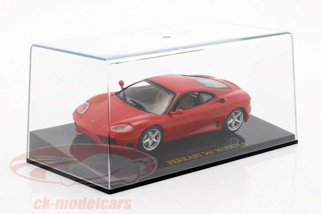 Ferrari 360 Modena rosso con vetrina 1:43 Altaya
