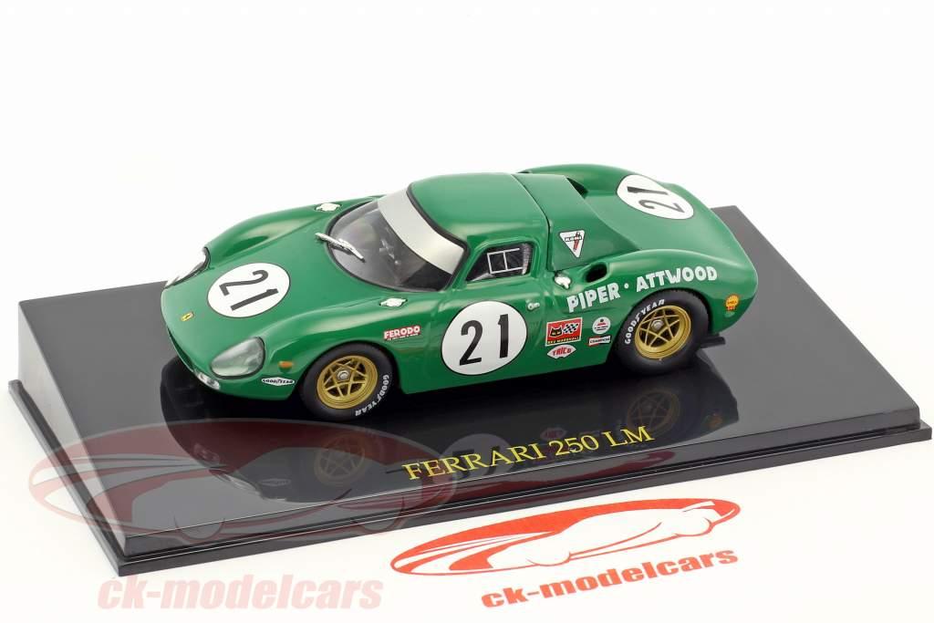 Ferrari 250 LM #21 24h LeMans 1968 Piper / Attwood avec vitrine 1:43 Altaya