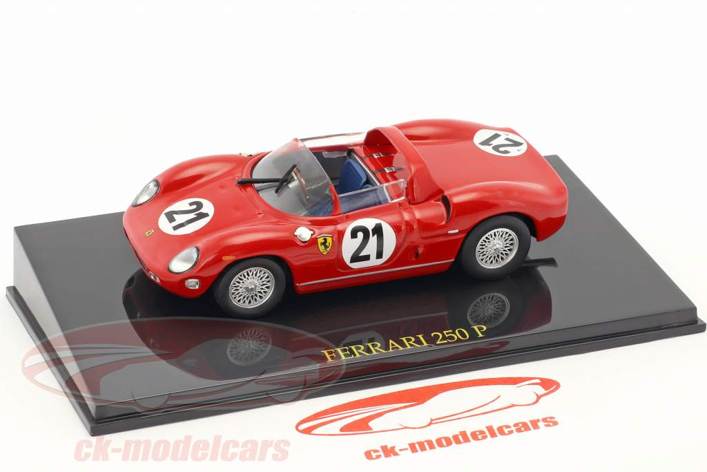Ferrari 250P #21 Gagnant 24h LeMans 1963 Scarfiotti, Bandini 1:43 avec vitrine Altaya
