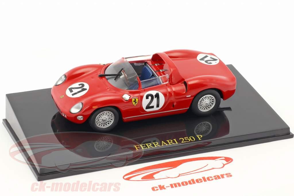 Ferrari 250P #21 vincitore 24h LeMans 1963 Scarfiotti, Bandini 1:43 con vetrina Altaya