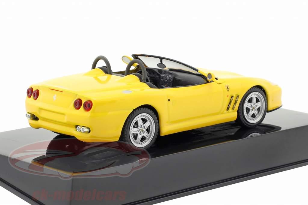 Ferrari 550 Barchetta amarelo com mostruário 1:43 Altaya