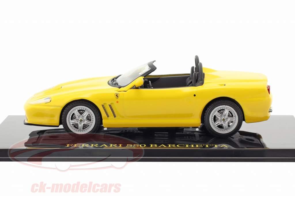Ferrari 550 Barchetta yellow with showcase 1:43 Altaya