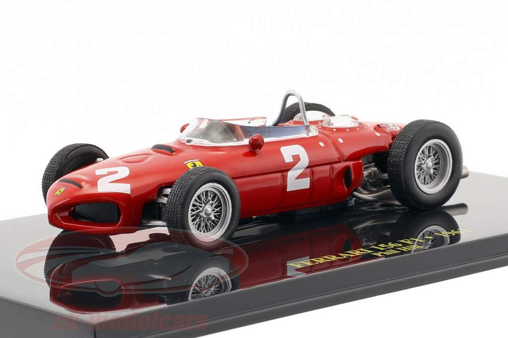 Phil Hill Ferrari 156 #2 campione del mondo formula 1 1961 con vetrina 1:43 Altaya