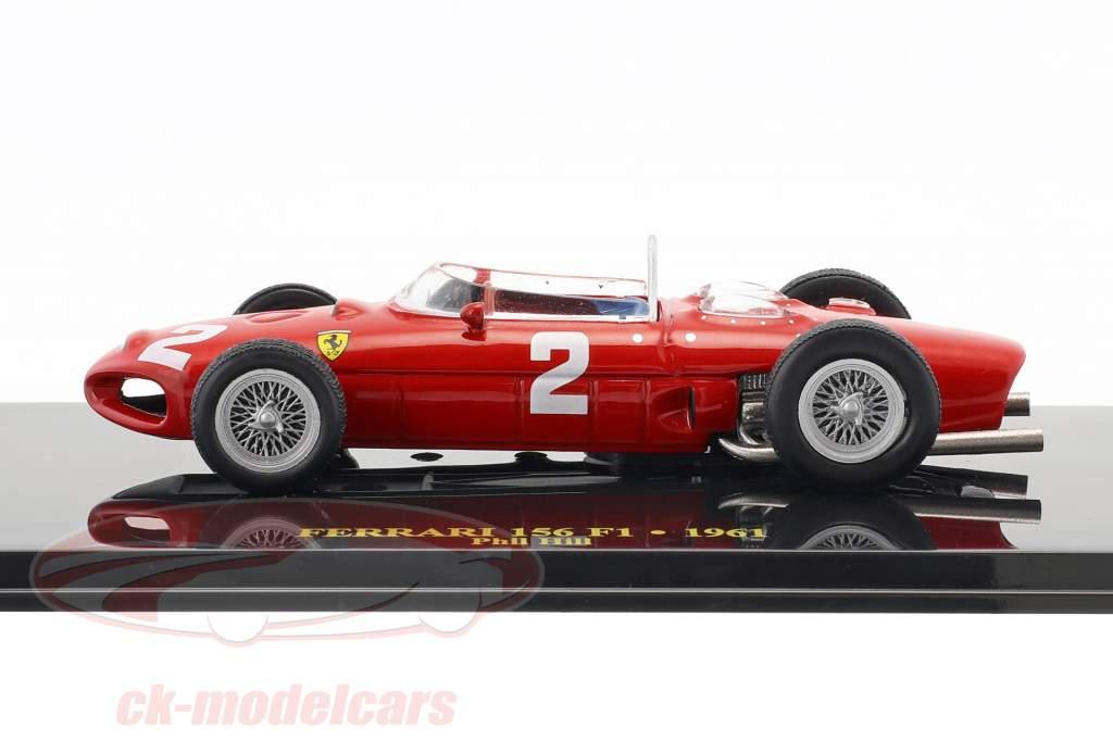 Phil Hill Ferrari 156 #2 Weltmeister Formel 1 1961 mit Vitrine 1:43 Altaya