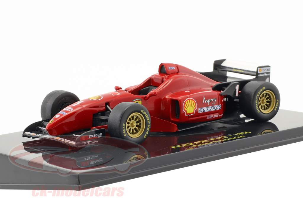 M. Schumacher Ferrari F310 Formule 1 1996 avec vitrine 1:43 Altaya