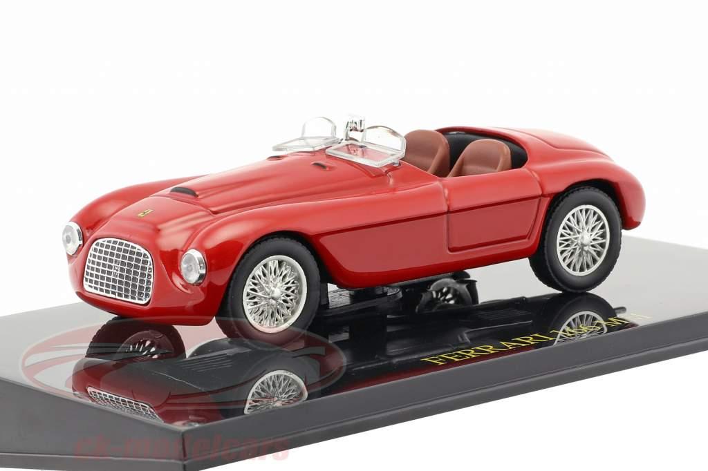 Ferrari 166 MM rot mit Vitrine 1:43 Altaya