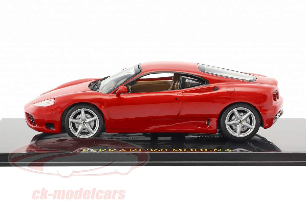 Ferrari 360 Modena rot mit Vitrine 1:43 Altaya