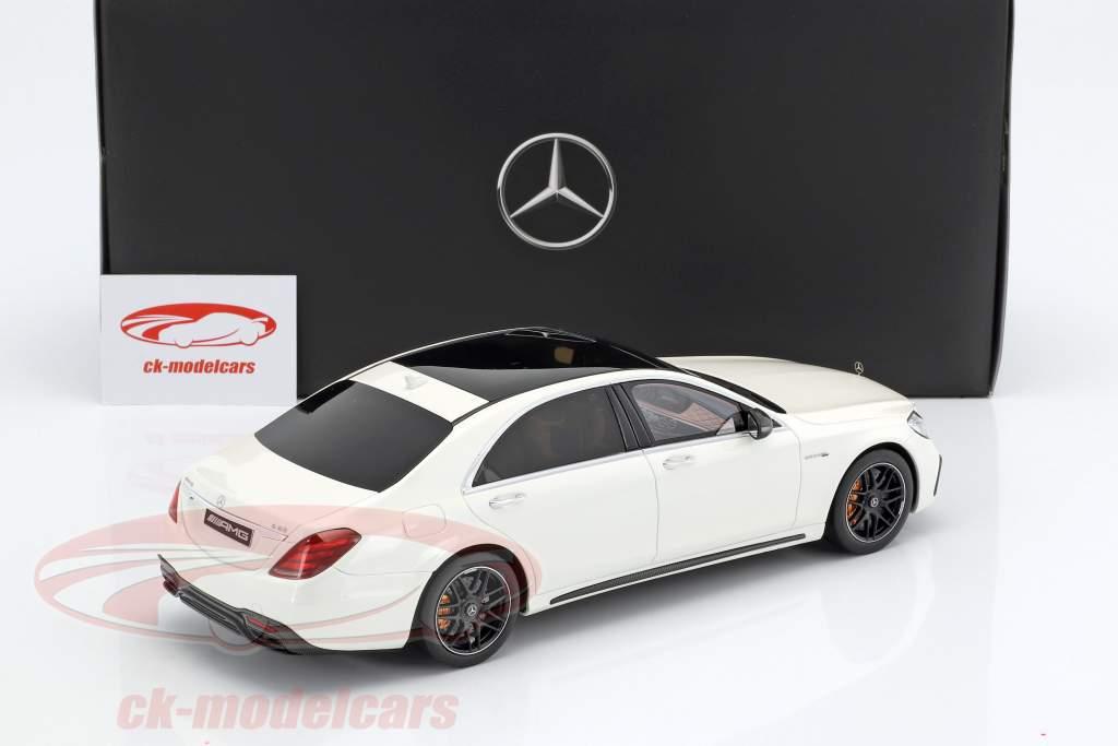 Mercedes-Benz AMG S 63 Mopf lang diamond white 1:18 GT-SPIRIT