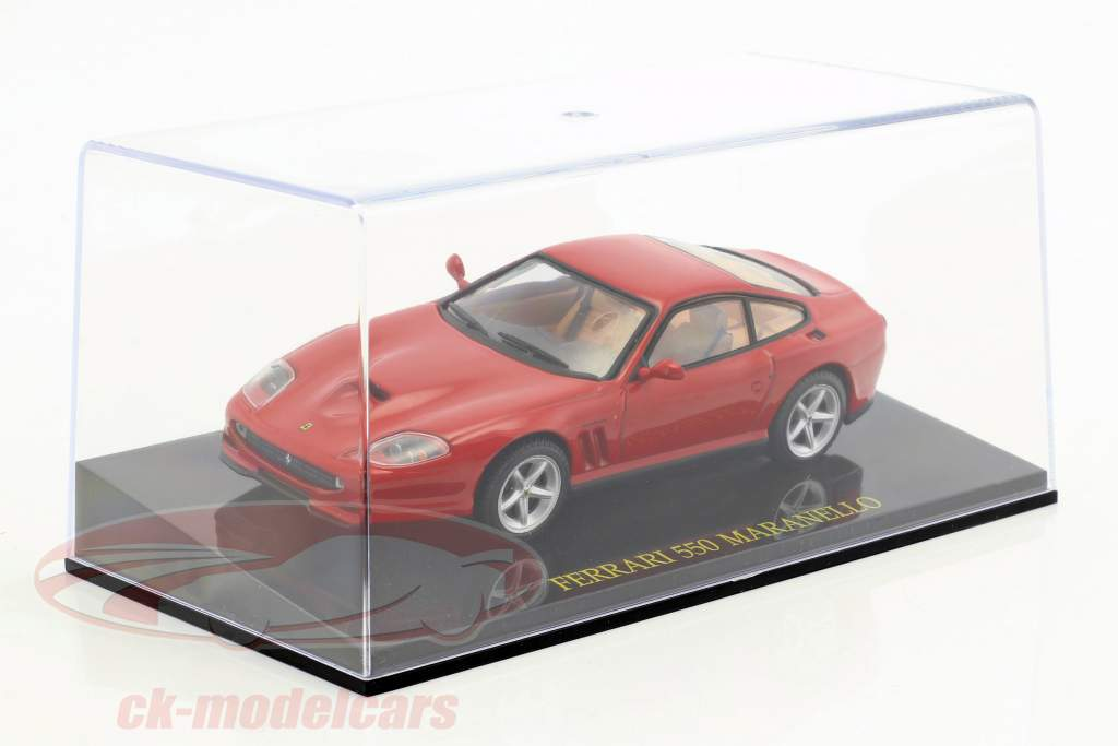 Ferrari 550 Maranello rot mit Vitrine 1:43 Altaya