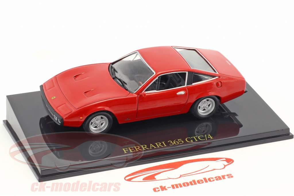 Ferrari 365 GTC/4 rosso con vetrina 1:43 Altaya