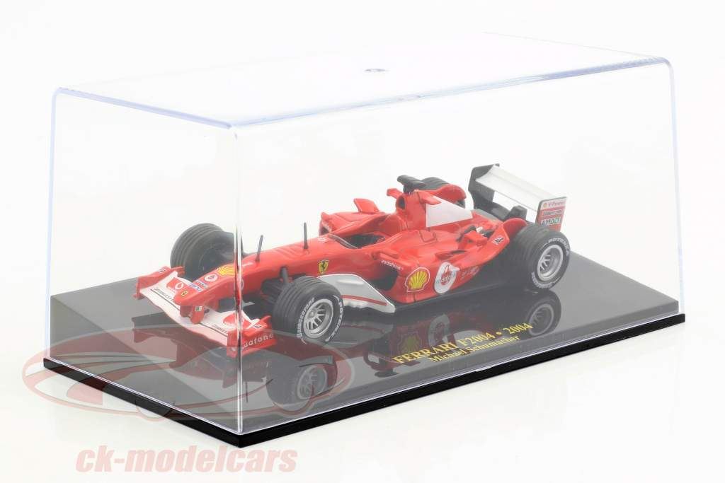 Michael Schumacher Ferrari F2004 #1 campione del mondo F1 2004 con vetrina 1:43 Altaya