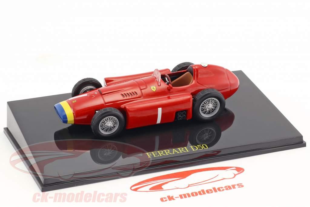 Juan Manuel Fangio Ferrari D50 campione del mondo formula 1 1956 con vetrina 1:43 Altaya