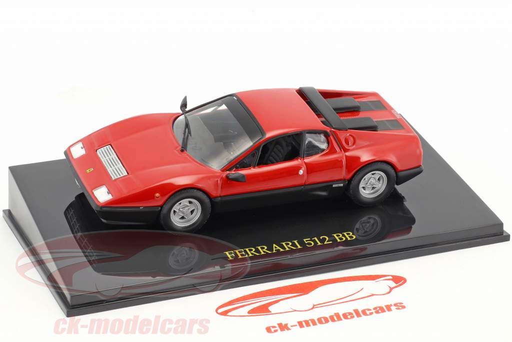 Ferrari 512 BB rouge avec vitrine 1:43 Altaya