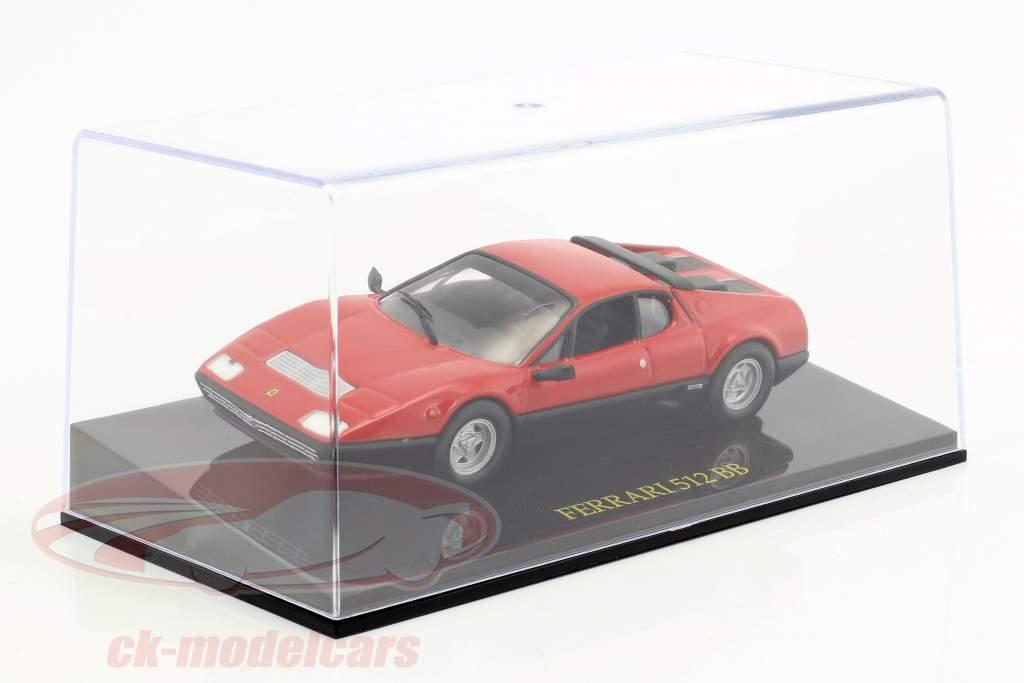 Ferrari 512 BB rosso con vetrina 1:43 Altaya