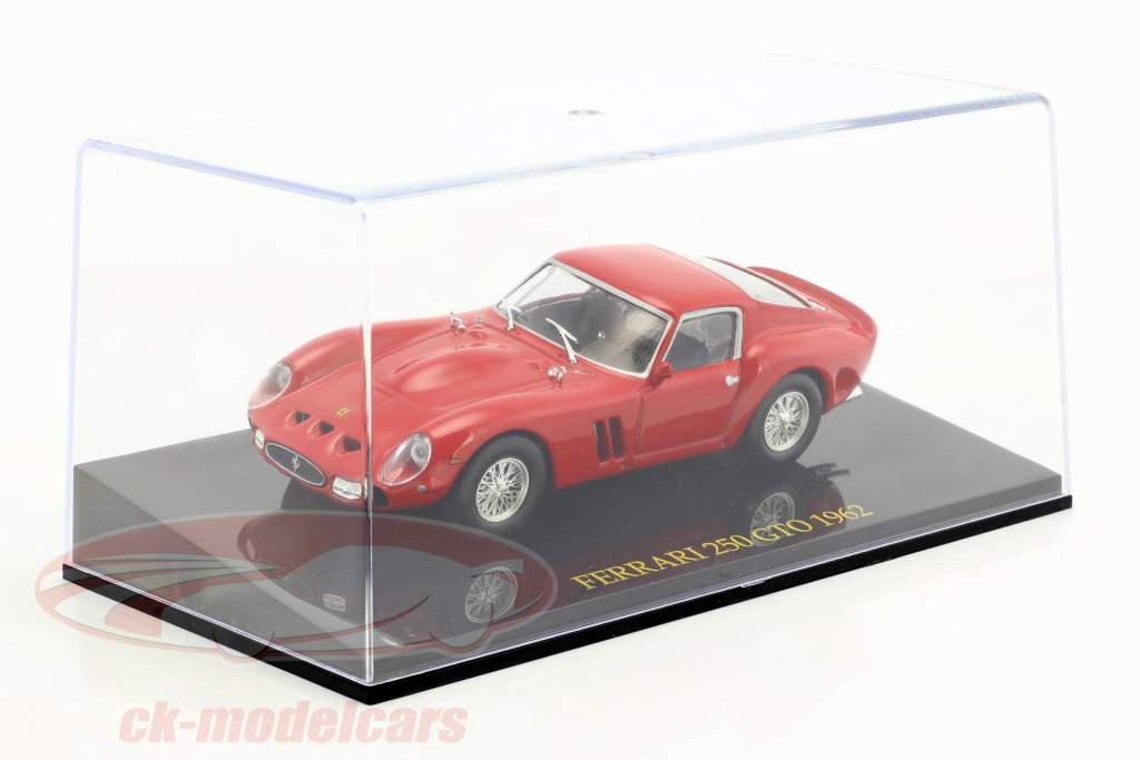 Ferrari 250 GTO year 1962 red with showcase 1:43 Altaya