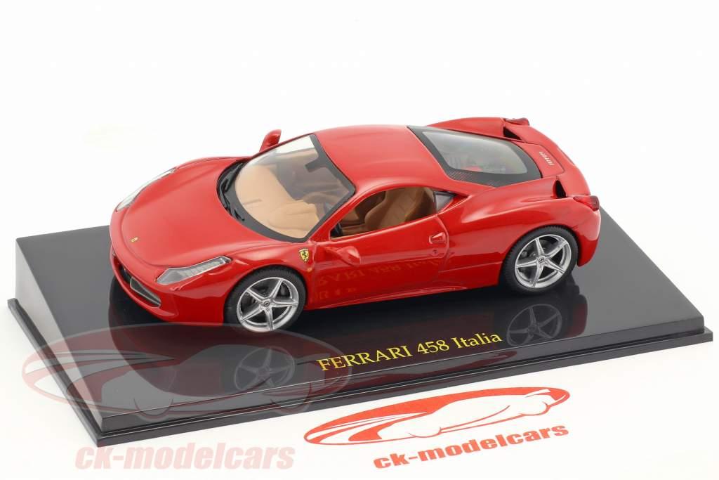 Ferrari 458 Italia rosso con vetrina 1:43 Altaya
