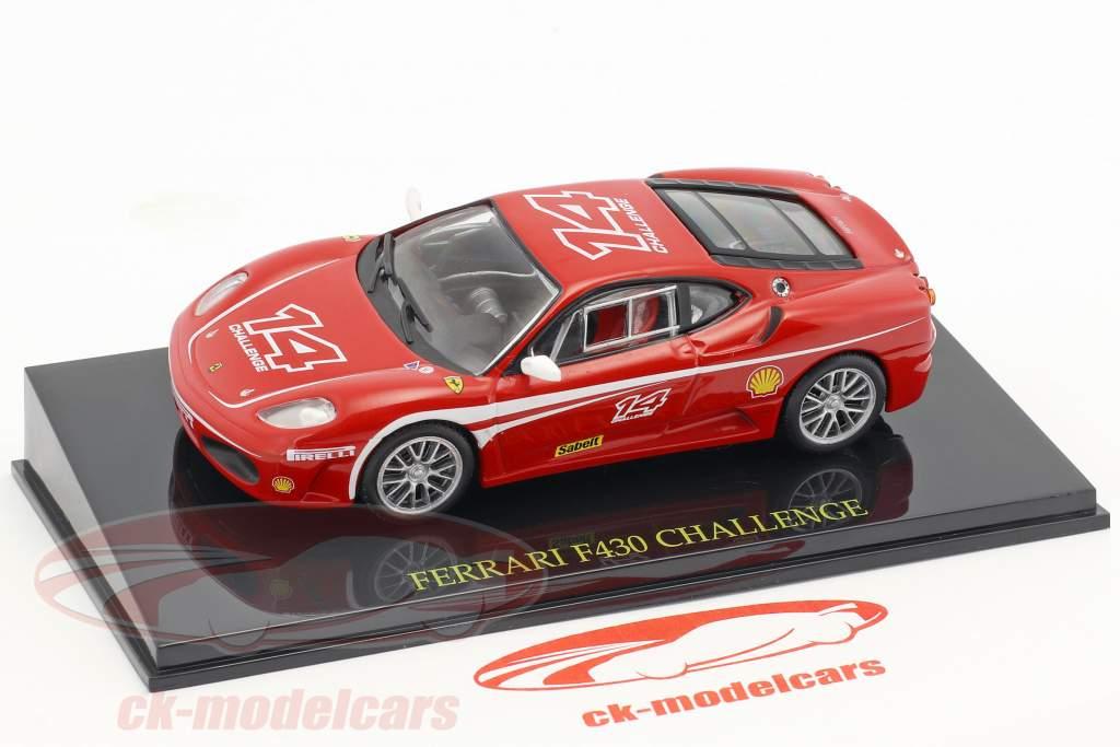 Ferrari F430 Challenge #14 rosso con vetrina 1:43 Altaya