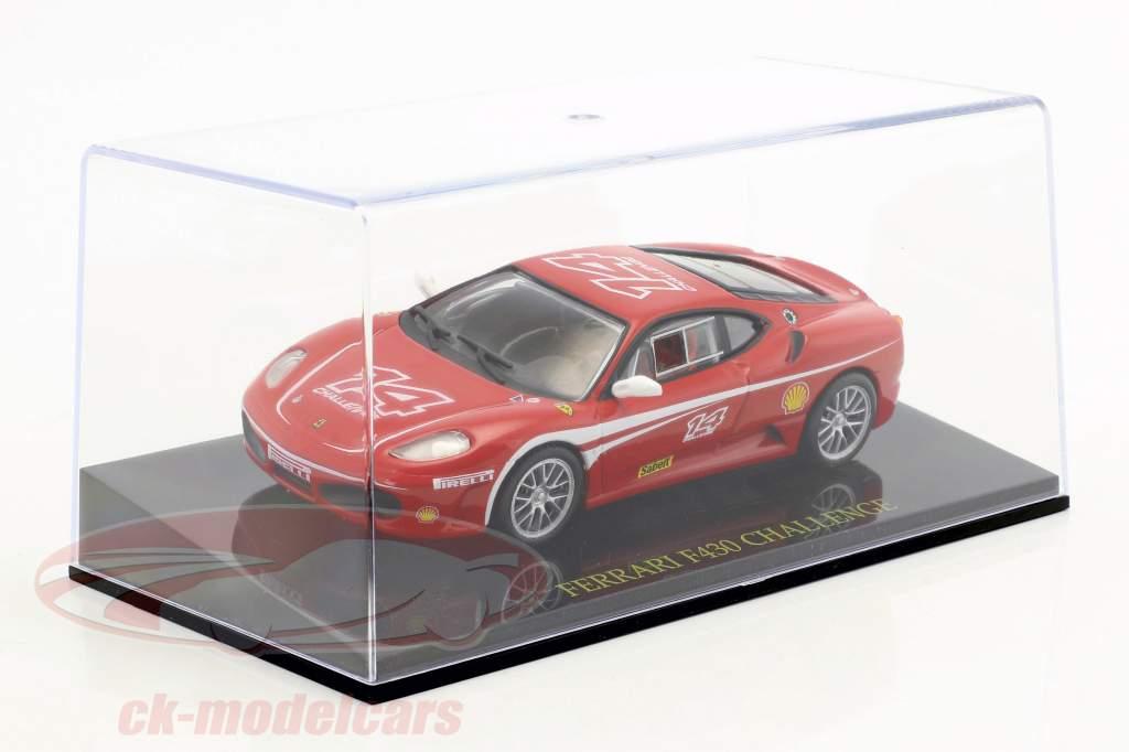 Ferrari F430 Challenge #14 rød med udstillingsvindue 1:43 Altaya
