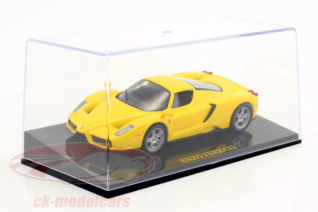 Ferrari Enzo jaune avec vitrine 1:43 Altaya