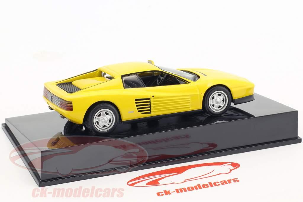 Ferrari Testarossa giallo con vetrina 1:43 Altaya