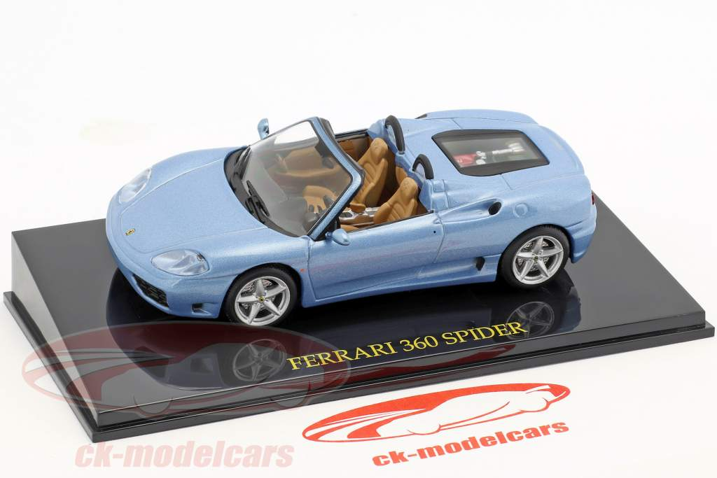 Ferrari 360 Spider blue with showcase 1:43 Altaya
