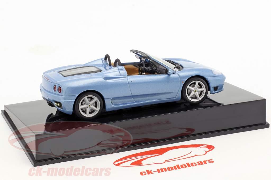 Ferrari 360 Spider bleu avec vitrine 1:43 Altaya