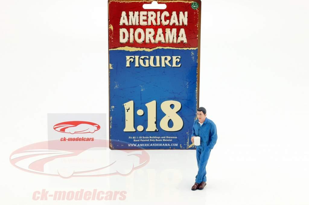 mécanicien Larry figure 1:18 American Diorama