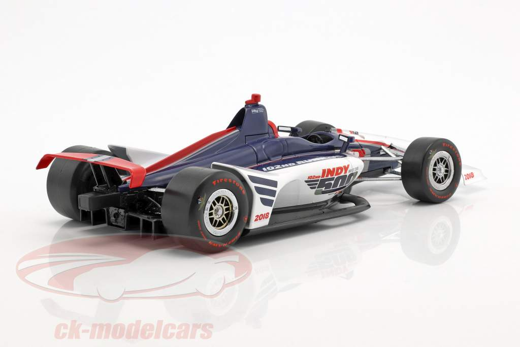 102nd Running Event Car Indianapolis 500 2018 1:18 Greenlight