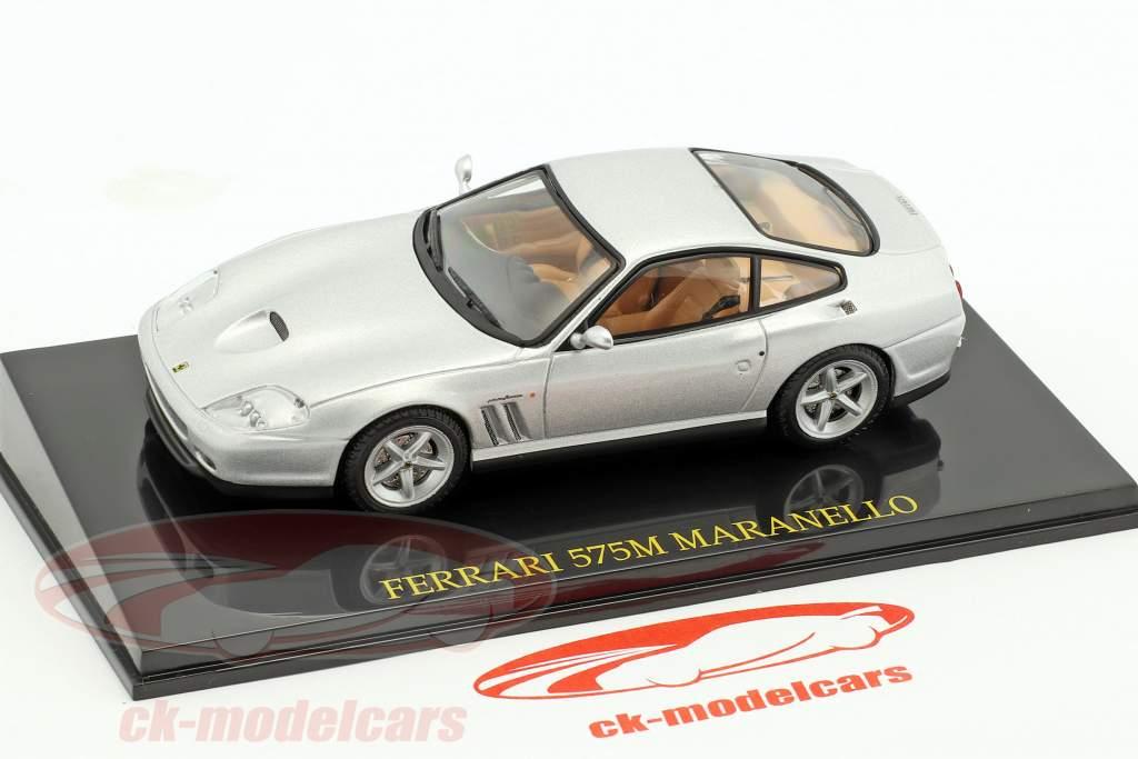 Ferrari 575M Maranello argent avec vitrine 1:43 Altaya