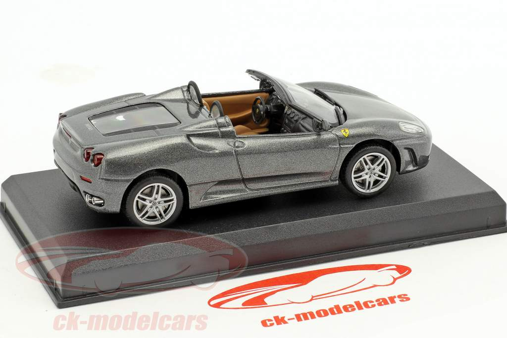 Ferrari F430 Spider grigio metallizzato 1:43 Altaya