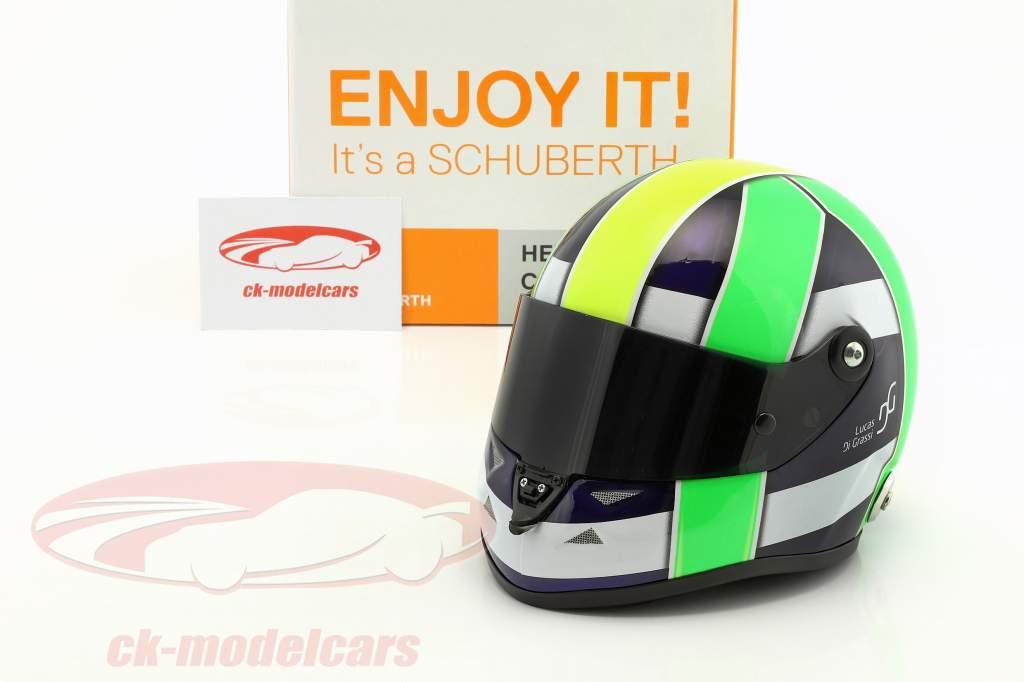 Lucas di Grassi campeón del mundo FIA-Formel E 2017 casco 1:2 Schuberth