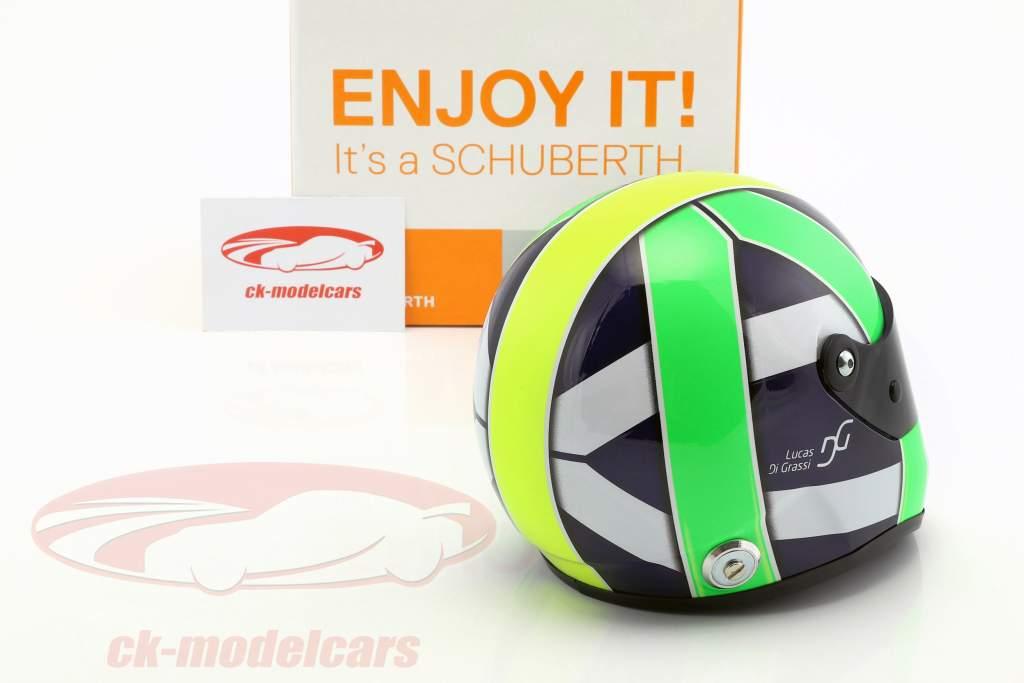 Lucas di Grassi campeão do mundo FIA-Formel E 2017 capacete 1:2 Schuberth